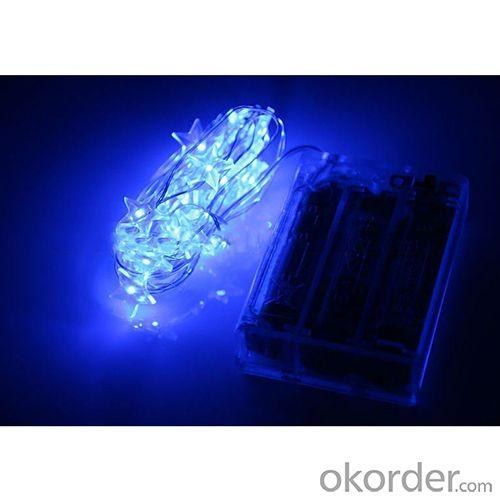 Battery Operated Mini Led Fairy Light String Light Pentagram Blue With 3Aa