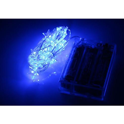 Battery Operated Mini Led Fairy Light String Light Pentagram Blue With 3Aa