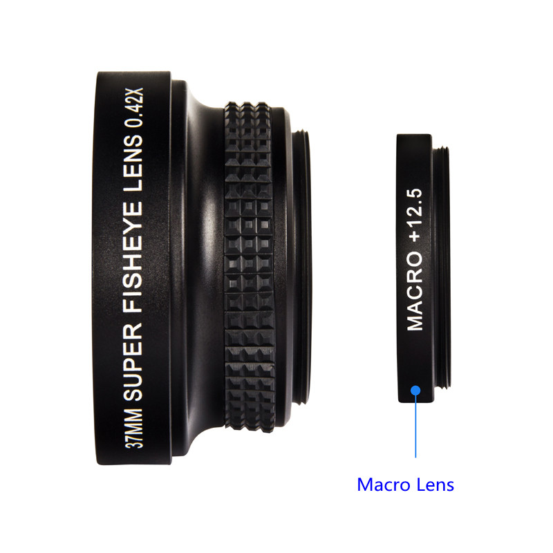 37mm 0.42X Fisheye Lens For Fish Eye Canon Nikon Sony Panasonic Jvc Camera Camcorder
