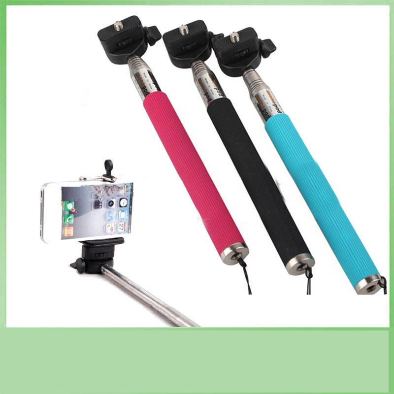 3 Color Aluminum Flexible Camera Monopod For Smartphone And Go Pro Camera