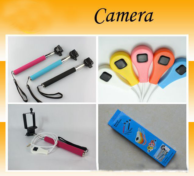 Wired / Bluetooth Shutter Release And Monopod For Samsung Note 3