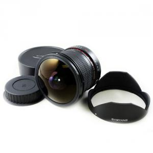 Samyang 8mm F/3.5 Umc Cs Ii Fisheye Lens For Canon Mount Hood
