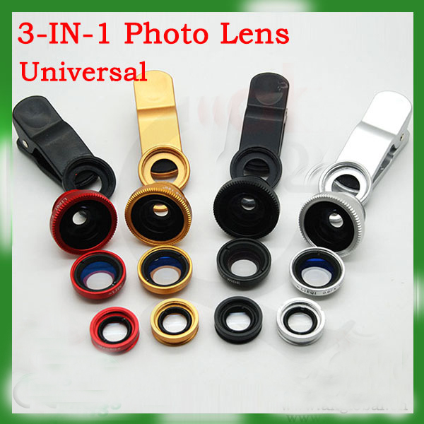 Hot On Sale 3 In 1 Lens Kit For Iphone Samsung,Htc,Blackberry,Smartphones