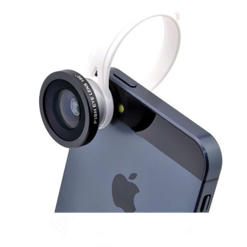 Ib-H8002 Universal Clip 180 Degree Fisheye Lens For Iphone