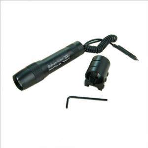 Tactical FlashLight 120lumen With Press Pad Switch And Mount