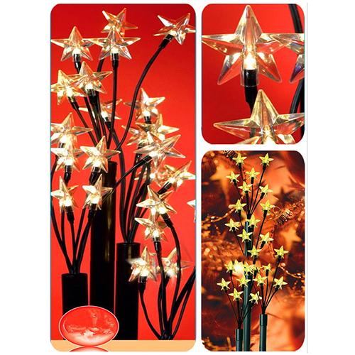 24 Leds With Star Caps Gardenstick - Led Christmas Lights