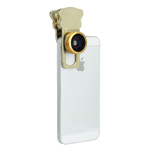 Universal Slivery Super Wide Angle Eye Camera Lens For Iphone/Samsung Or Others