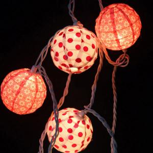 China Factory Wholesale Decorative Cotton Ball String Lights