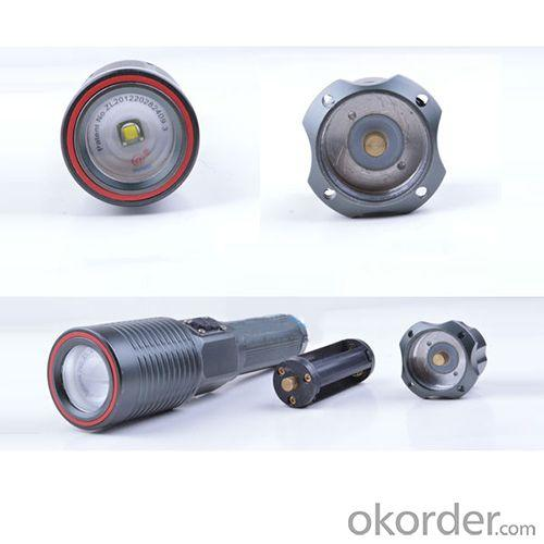 High power automatic focus adjust rechargeable cree xml t6 led police flashlight