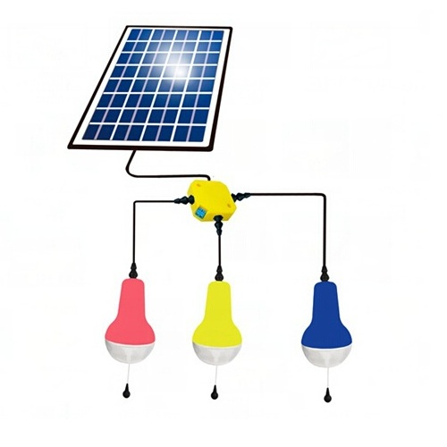 China Factory Super Bright LED Solar Lamp Lantern High Quality Solar Home Lighting Colorful 3 Lamps With 5W 5V Solar Panel