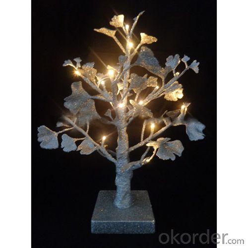 Hot Sale Led Light Ginkgo Tree W/Glitter 18L/35Cm