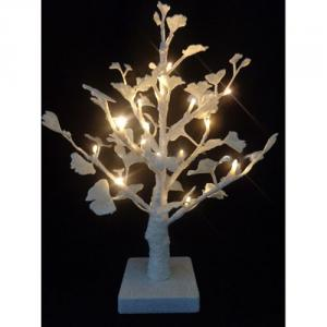 Hot Sale Led Light Ginkgo Tree W/Glitter 18L/35Cm