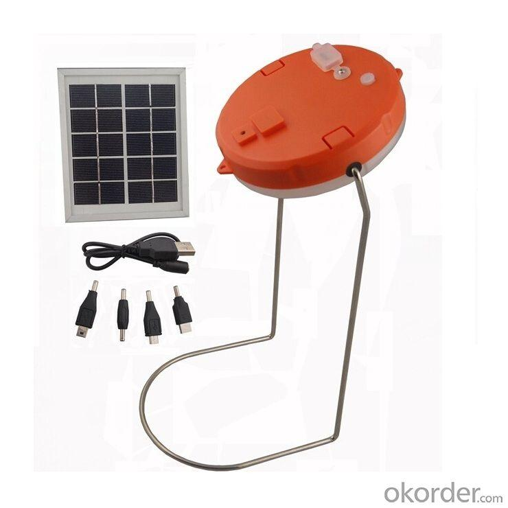 New Hot Selling Mobile Charge Solar Lamp With USB Mobile Charge 5V Solar Bedroom Light Orange (VERSION C)