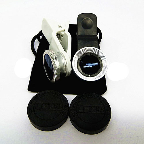 Best Selling 3 In 1 Lens Wide-Angle Fish Eye Lens Macro Lens For Ipone 5 Samsung Htc Mobile Phone All Smart Phone