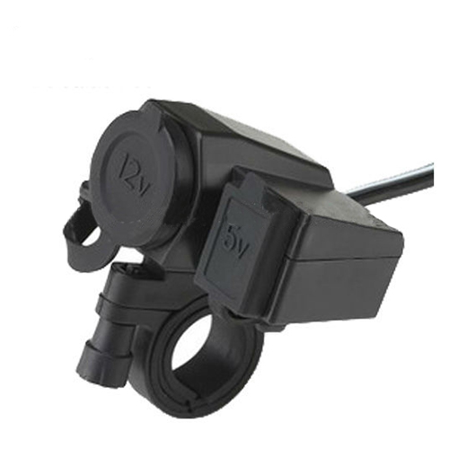 12V Car And Motorcycle Cigarette Lighter Socket With Usb Ports