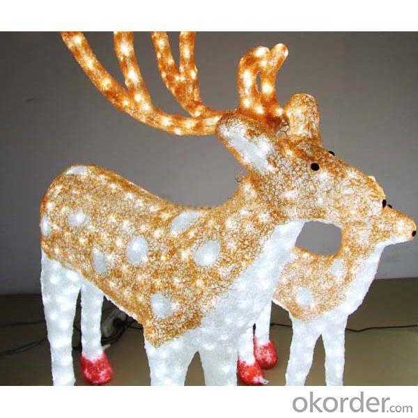 Christmas Decoration Motif 3D Sika Deer/Christmas Lights Tradition/Christmas Led Light Animals
