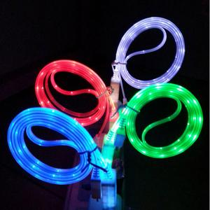 With Led Light Up Usb Charging Data Cable For Samsung And Anyphone