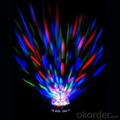 Led Rgb Rotating Light