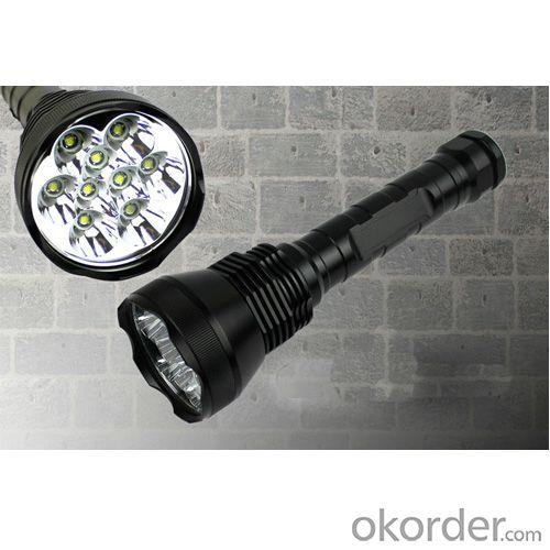 Hand Torch LED Flashlight Torch 11000 Lumen 9 x CREE XM-L T6 LED for (26650/18650) Flashlight Torch