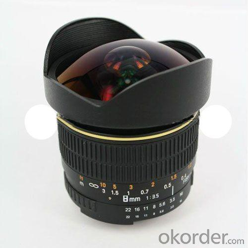 8mm F/3.5 Fisheye Lens For Canon Eos 7D T1I Xsi 50D 60D 40D 30D 20D