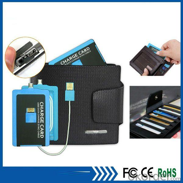 Portable Micro Usb Charge Card Cable For Samsung Galaxy S5