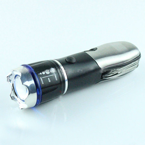 7 In 1 Multifunctional Cree Q5 Torch Light With Zoomn Tool Light