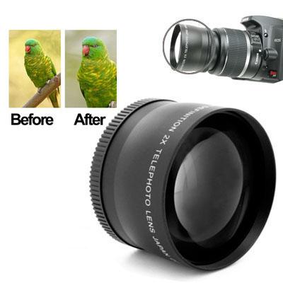 2X 58mm Professional Telephoto Lens For Canon 350D/1000D / 550D / 600D / 1100D