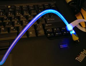 Gradient Colors Led Light Micro Usb Cable For Samsung ,Led Iphone 5 Cable