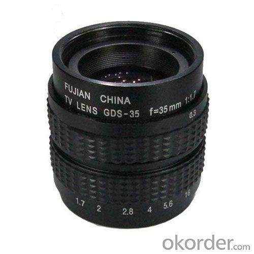 New Design Monofocal 35mm Fa Lens F1.7 Manual Iris Camera Accessory Cctv Lens