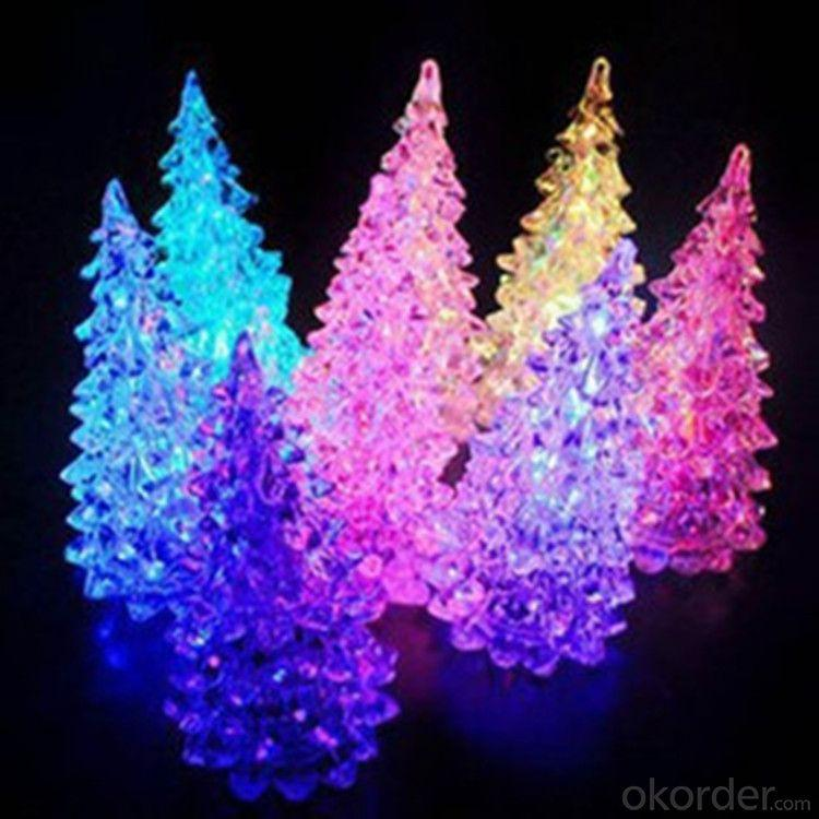 Novelty Colorful Dream Crystal Christmas Tree Night Light Colorful Christmas Gift Wholesale Or Oem