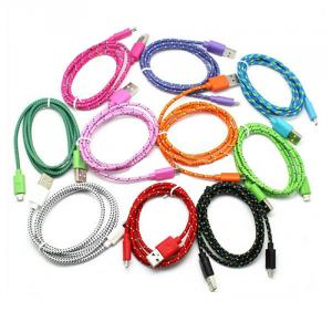 2014 Hottest Flat Noodle Design Nylon Braided Usb Charger Cable For Iphone 5/Micro Usb/Iphone 4 Model Available