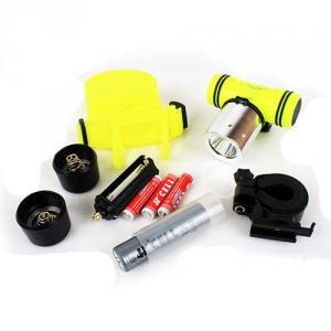 Goread GD42 3W EPISTAR Chip LED Head Light Bike Light High Power Aluminum Dive Flashlight 3in1