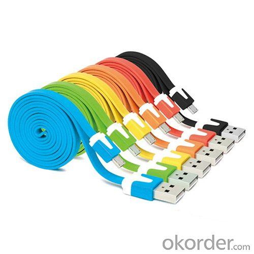 Various Colors Micro Usb Cable,Flat Usb Cable,Noodle Usb Cable