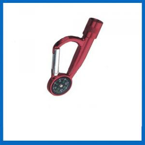 Mini Helpful Red LED Flashlights With Compass
