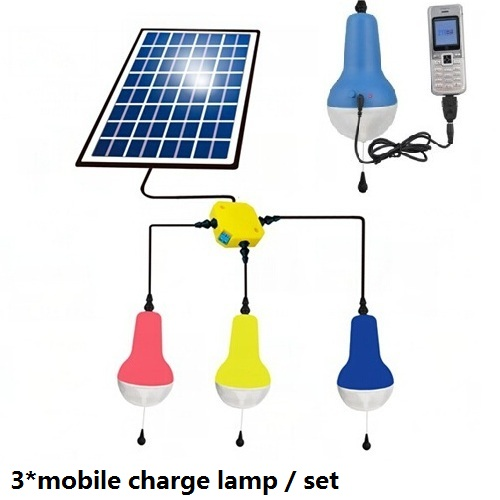 China Manufacture High Quality 2200mah 5V Mobile Charge Solar Lamp With 5W 5V Solar Panel