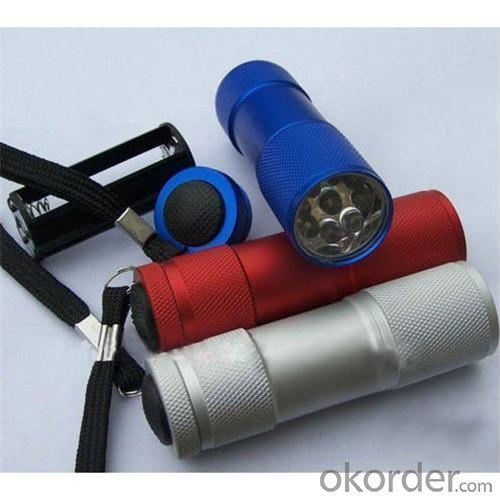 Hotsell Aluminium Mini Super Led Flashlight 9 LED Promotional Flashlight