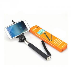 2014 New Style For Phone Camera Monopod Phone Holder Aluminum Flexiable Monopod Phone With Holder Clip
