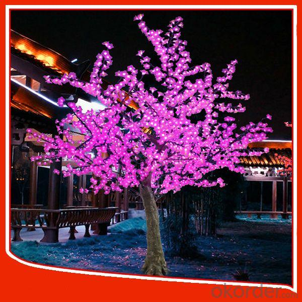 Outdoor Christmas Decoration Landscape Cherry Flower Led Tree