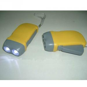 LED Hand Press Flashlight / Hand Crank Flash Light / Dynamo Flashlight