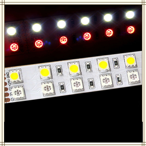 Rgb+White Special Fex Led Strip Light Smd5050-Rgb/W In Two Line