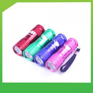 9 Led Mini Aluminum Led Torch Colorful Option