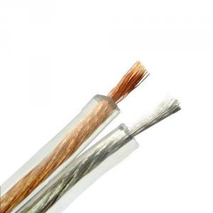 Hot Sale Transparent Pvc 2 Core Speaker Cable