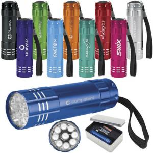 Promotion 9led Aluminium Flashlight,Mini Led Flashlight