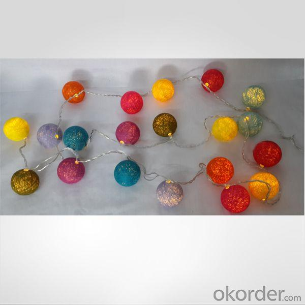 Cotton Ball Led Light Chain