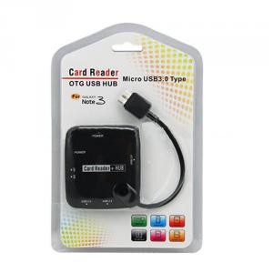 Micro USB 3.0 OTG Card Reader and 3 Ports USB HUB for Samsung galaxy Note 3