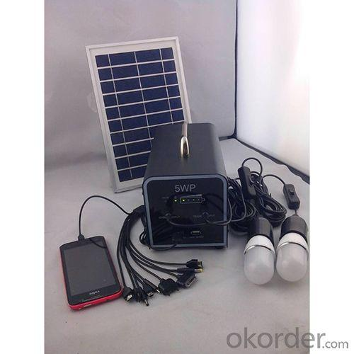 China Best Quality 5W 18V Solar Panel 4.5A Battery Solar System With Mobile Charge Cell Phone Charger