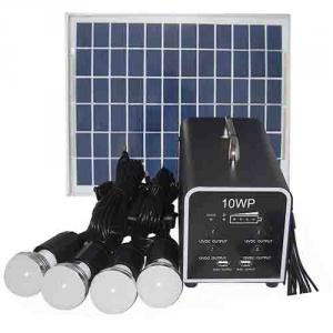 China Factory High Quality 10W 18V Solar Panel 7A Battery Solar System