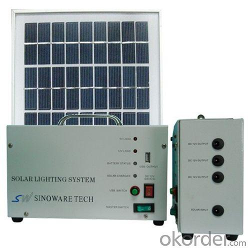 China Manufacture 10W 18V Solar Panel 7A Battery Solar System With Mobile Charge Cell Phone Charger