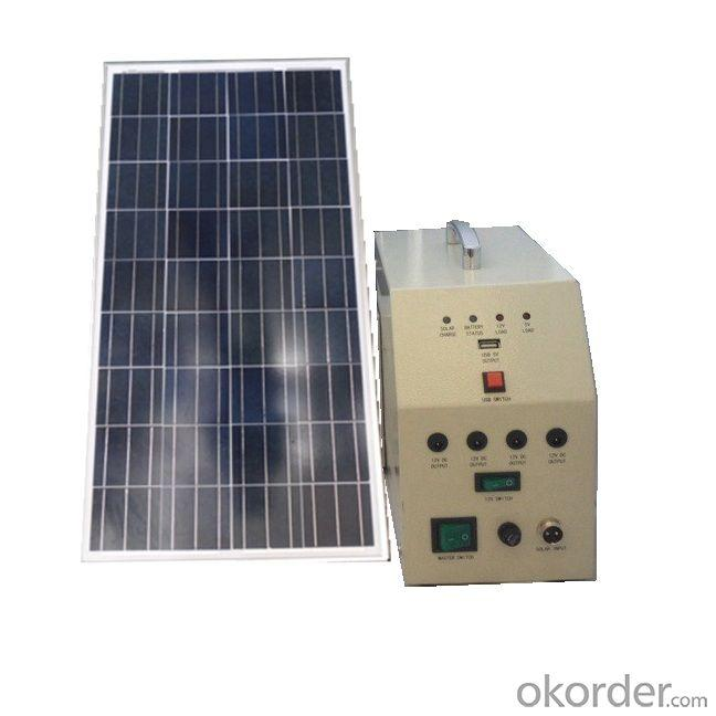 China Manufacture 20W 18V Solar Panel 12A Battery Solar System