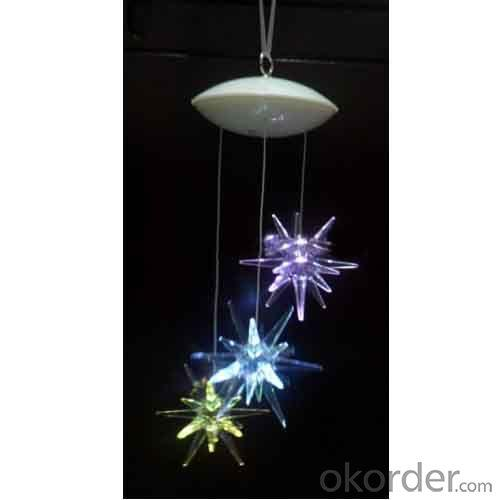 Multi Color Battery Operated Ufo Mobile With 3 Starburst Led Lights